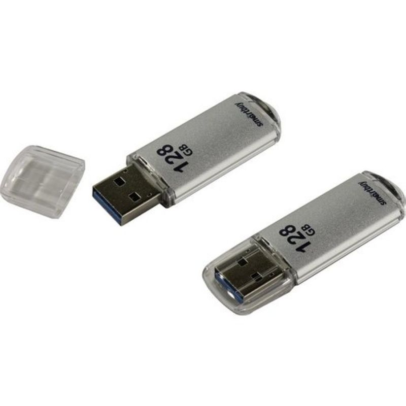 Флеш-память USB 3.0 Flash 128 Gb SmartBuy V-Cut Silver (SB128GBVC-S3)
