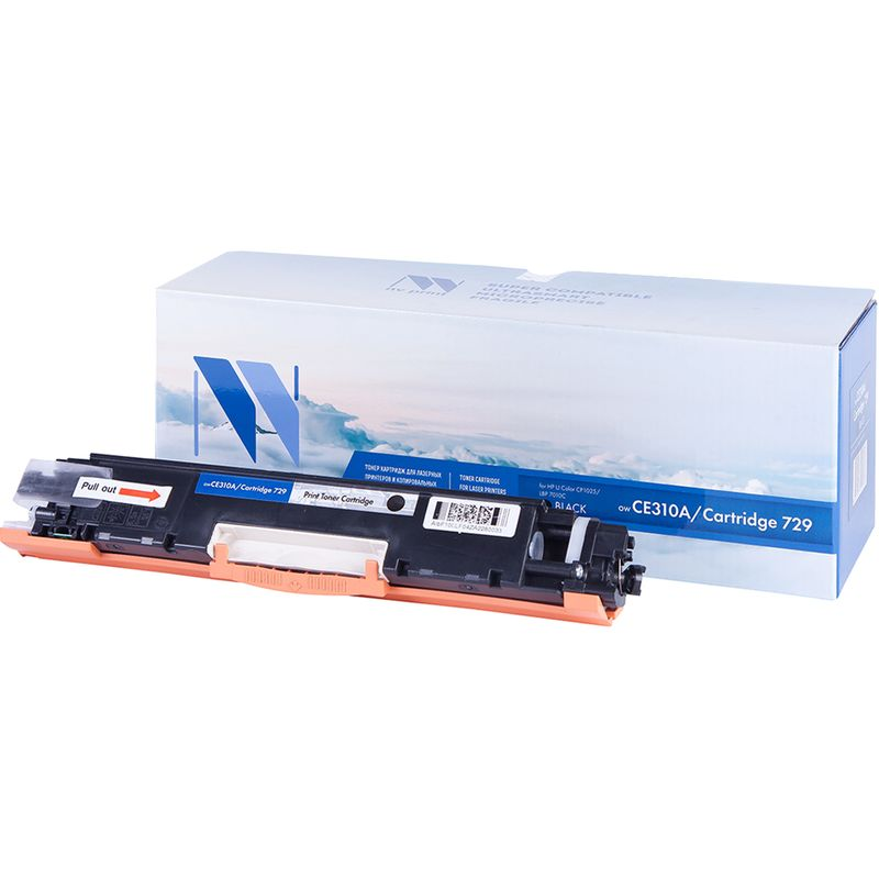 Картридж аналог HP CE310A /Canon 729 Black для LaserJet Color Pro 100 M175a /M175nw /CP1025 /CP1025nw /Canon i-SENSYS LBP7010C /LBP7018С