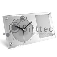 Часы BL11 прямоугольные, стеклянные (для сублимационной печати)