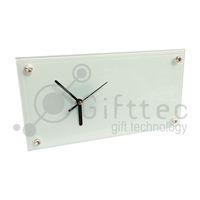 Часы BL28 прямоугольные, стеклянные (для сублимационной печати)