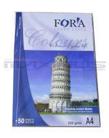 Фотобумага двухсторонняя FORA матовая/матовая 220гр. А4, 50 листов