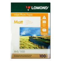 Фотобумага LOMOND 0102002 Двусторонняя Матовая/Матовая  A4, 100гр/м 100л