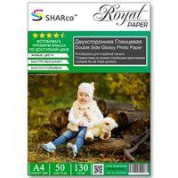 Фотобумага SHARCO двухсторонняя глянцевая, 130гр. А4, 50 листов
