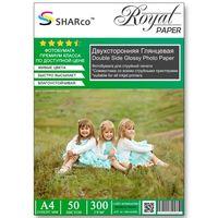 Фотобумага SHARCO двухсторонняя глянцевая, 300гр. А4, 50 листов