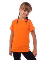 Футболка детская Premium, хлопок 150г/м, оранжевая размер 122-128 (7-8)