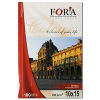 Глянцевая фотобумага FORA для струйной печати, 220 гр, 10x15, 100 листов
