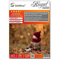 Глянцевая фотобумага SHARCO для струйной печати, 120 гр, A3, 50 листов