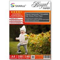 Глянцевая фотобумага SHARCO для струйной печати, 140 гр, A4, 100 листов