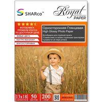 Глянцевая фотобумага SHARCO для струйной печати, 200 гр, 13x18, 50 листов