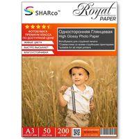 Глянцевая фотобумага SHARCO для струйной печати, 200 гр, A3, 50 листов