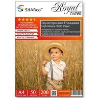 Глянцевая фотобумага SHARCO для струйной печати, 200 гр, A4, 50 листов