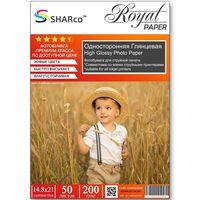 Глянцевая фотобумага SHARCO для струйной печати, 200 гр, A5, 50 листов