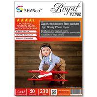 Глянцевая фотобумага SHARCO для струйной печати, 230 гр, 13x18, 50 листов