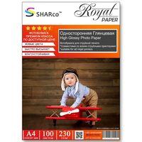 Глянцевая фотобумага SHARCO для струйной печати, 230 гр, A4, 100 листов
