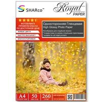 Глянцевая фотобумага SHARCO для струйной печати, 260 гр, A4, 50 листов