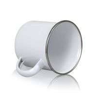 Кружка металлическая, белая, 330мл для сублимационной печати