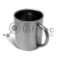 Кружка металлическая (цвет - серебро) 300мл, (для сублимационной печати)