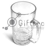 Кружка пивная стеклянная (для сублимационной печати)