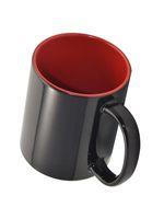 Кружка СТАНДАРТ хамелеон, черная матовая, цветная внутри (для сублимационной печати) красная
