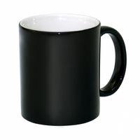 Кружка СТАНДАРТ хамелеон, матовая (для сублимационной печати) черная