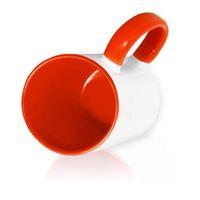 Кружка СТАНДАРТ цветная внутри + цветная ручка (для сублимационной печати) Красная