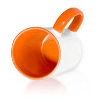 Кружка СТАНДАРТ цветная внутри + цветная ручка (для сублимационной печати) Оранжевая