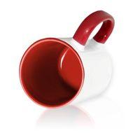 Кружка СТАНДАРТ цветная внутри + цветная ручка (для сублимационной печати) Бордовая