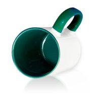 Кружка СТАНДАРТ цветная внутри + цветная ручка (для сублимационной печати) Зеленая