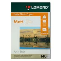Матовая фотобумага LOMOND 0102074 (A4, 100 листов, 140 г/м2)