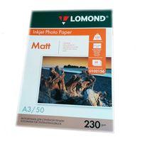 Матовая фотобумага LOMOND 0102156, 230гр, А3, 50 листов