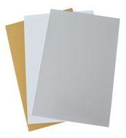 Металлическая пластина 20x30см цвет: золотой металлик