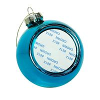 Новогодний шар с вставкой для сублимации, голубой
