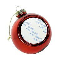 Новогодний шар с вставкой для сублимации, красный