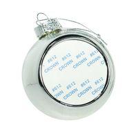 Новогодний шар с вставкой для сублимации, серебро