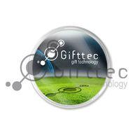 Пластиковый фото-магнит для вставки изображения (Круглый) уп.25шт