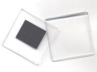 Пластиковый фото-магнит для вставки изображения (Квадратный) уп.25шт