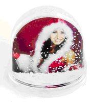 Шар новогодний с хлопьями в виде снежинок (для вставки изображения)