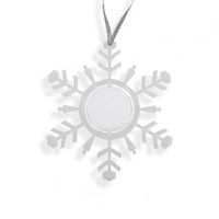 Снежинка-подвеска прозрачная 100x3x113мм, под вставку изображения