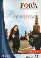Супер Глянцевая фотобумага FORA 260гр А4 (ПРЕМИУМ) 50 листов