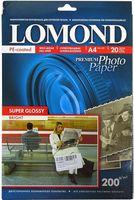Супер Глянцевая фотобумага LOMOND 1101112 (А4, 20 листов, 200 г/м2)