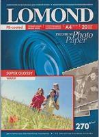 Супер Глянцевая фотобумага LOMOND 1106100 Bright (А4, 20 листов, 270 г/м2)