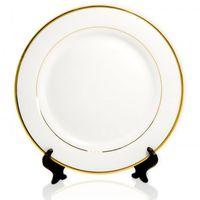 Тарелка с двумя золотыми каемками (для сублимационной печати)